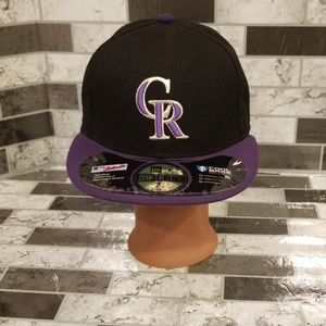 Colorado Rockies Fitted Hat 7 1/8